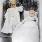 Mabel Grace Taylor and Virginia Taylor of Carter County, KY taken about 1905.  Daughters of Scott and Alice Taylor.