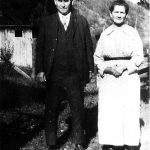 Margaret Wilson Taylor and Scott Taylor at the Wilson farm up Taylor hollow at Willard, KY taken in 1921.