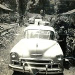 McBeth Coal Camp 1950, Bill Compton with his new 1950 Chevy.