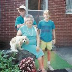 Michelle McCormack, Robb McCormack and Mary Webber at Aunt Mary's home on the Bill Rice Ranch in Murfreesboro, TN.