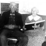 Monroe Burk and Effie Burk at their home on Straight Creek, Carter County, KY.