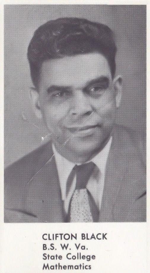 Mr. Clifton Black,  Logan High School teacher photo, Logan, WV