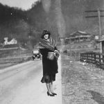 Nell Taylor, wife of Clyde Taylor of Monitor, WV. Taken in 1927.
