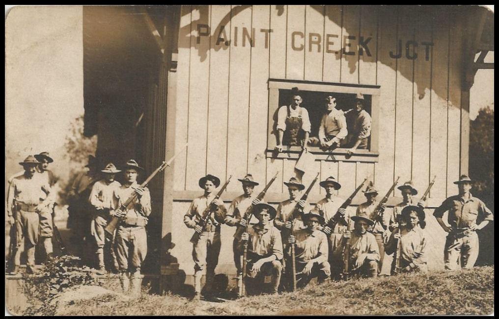 State Militia at Paint Creek Junction 1913