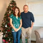 Robb McCormack and Olivia McCormack at Christmas time at their home in Hurricane, WV in 2007.