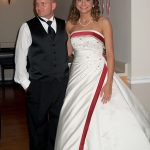 Robb McCormack and Olivia McCormack at their wedding at the Wesleyan Church at Cullodon, WV.