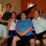 Robert McCormack, Jarae Taylorl, Gerald Taylor and John Taylor taken at the home of Robert McCormack in Palm Springs,  CA.