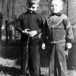 1938 Ronald McCormick and Johnny Jones, first cousins, taken at Monitor, WV.