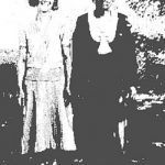 Sarah Burk McCormack and her daughter-in-law, Virginia Taylor McCormack at Sarah's home on Straight Creek, Carter County, KY.