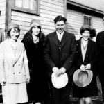 Scott Taylor Children with Sweethearts. Lacey Howe, Virginia Taylor, Ethel Gartin, Ed Taylor, Elizabeth Taylor and Johnny Jones. Taken at the Scott Taylor home at Monitor, WV in 1927.