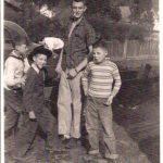 Glen Paul Edmonson, Charles Stacy & Jerry taken in the yard of the Log Cabin Home in Cherry Tree.