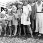 Taylor Cousins taken at Monitor, WV.  Johnny Jones, Ronnie McCormick, Jack Ursel Taylor, Paul Taylor, Mildred Taylor, Bobby Wenell and Ray Wendell