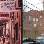 Stratton Street, Logan, WV, April 1974 and March 2014