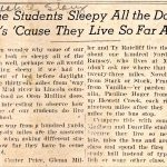 This article shows the travel difficulty some WV students faced to attend high school.