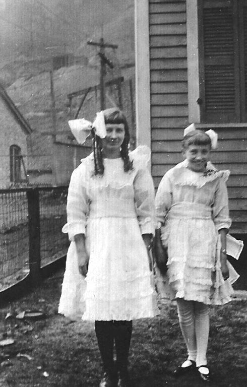 Virginia Taylor and Elizabeth Taylor of Monitor, WV taken in 1923.