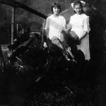 Virginia Hatfield and Leona Brown of Monitor taken in 1920. They were best friends and Virginia would later teach Leona's daughter, Gloria, at Yuma School across the creek. They would walk to school together.