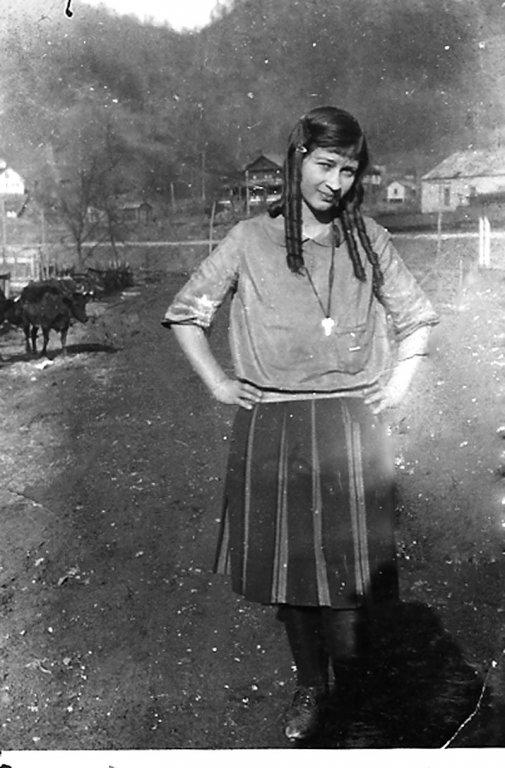 Virginia Taylor, sophomore at Logan High School, Logan, WV taken in 1924.