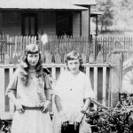 Virginia Taylor and Elizabeth Taylor taken in the yard in 1923 at Monitor, WV.