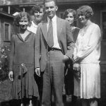 1929 Virginia Taylor with her sister-in-law, Elizabeth Pyburn Taylor and the Pyburn siblings.