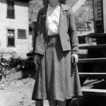 Virginia Taylor McCormack taken on the steps of Micco School where she taught.