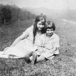 Virginia Taylor with cousin Shirley Steele taken in August of 1925 at the home of her Uncle Alonzo Bowling at Hitchens, KY.