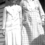 Virginia Taylor with her mother Alice Taylor taken on the back steps of their home.