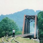 Warfield, WV railroad bridge,1988
