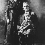 William Bowing of Hitchens, KY,  his daughter, Lizzie Bowling Steele and grand daughter, Shirley Steele