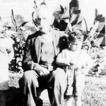 William Bowling and  grand son, Paul Taylor, taken at the home Alonzo Bowling of Hitchens, KY.