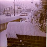 Winter Snow 1970 - Edward Atkins home in background