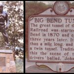 John Henry Statue and WV Big Bend Tunnel marker.