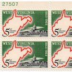 1963 West Virginia Statehood Plate Block