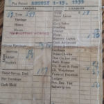 1939 Coal Miner Delmer Evans Pay stub courtesy of his daugher Linda Evans Hill.