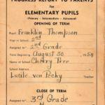 1954-55 Cherry Tree School Report Card