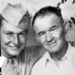 Unknown serviceman and Joe.