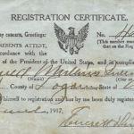 1917 Registration Certificate