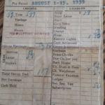 1939 Coal Miner's Two-Week Pay Stub