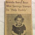 Brenda Berry 1944 Logan Banner Clipping