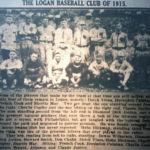 Logan Banner, 9 April 1926, Logan Baseball Club 1915. Courtesy of Brandon Ray Kirk.