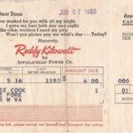 Appalachian Power Co. Bill courtesy of Connie Woods