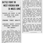 1921 Blattle of Blair Mountain Newspaper clipping