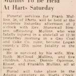 Frank Mullins, 1944 37th Mine Fatality