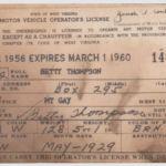 1956-1960 WV Drivers License