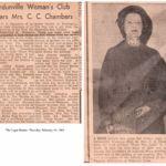 Verdunville Woman's Club Hears Mrs. C. C. Chambers.