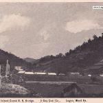 Logan County, WV Island Creek RR Bridge and Gay Mine postcard dated April 2, 1907.