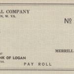 Merrill Coal Company Payroll Check