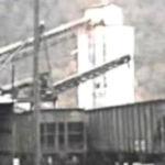 Dehue, WV Tipple loading coal cars.