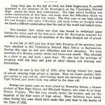 1922 Man High School Yearbook  - Senior Class History.