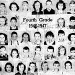 4th Grade 1946 - 1947: Ms. Legg, _, _, _, Jo Ann Cook, Jimmy Hale, Donna Richardson, _, __, _, _, _, _, _ Calvin Stone, Donna Rita Hanners, _, _, _, Jackie Lemon, _, _, _ _, _, _,  Helen Caudill, Bruce Adams, Sue Stevens, _, Betty Jo Ellis, _, Helen ? _, Jo Ann Cook, Doris Fry, _, _, Mary Burgess, _