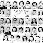5th Grade 1947 - 1948: Ms. Adams, _, Donna Rita Hanners, Calvin Stone, _, _, Jo Ann Cook, Johnny Hale _, _, _, _, Betty Jo Ellis